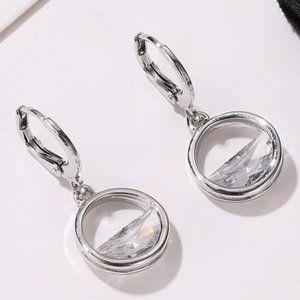 3/$20 New Silver Gemstone Dangle Earrings